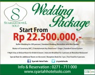 Wedding Package Syariah Hotel Solo